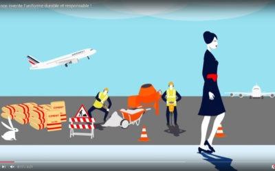 Les Uniformes AIR FRANCE recyclés